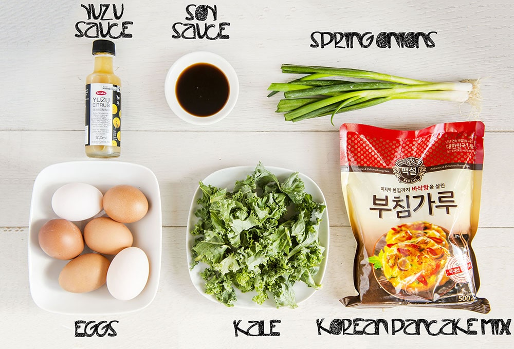 korean kale pancakes ingredients