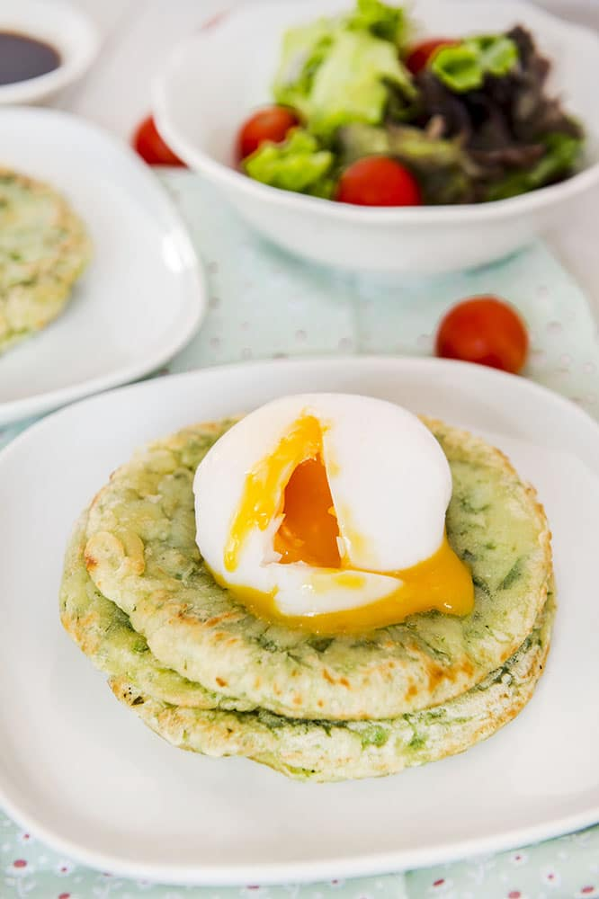 korean kale pancakes