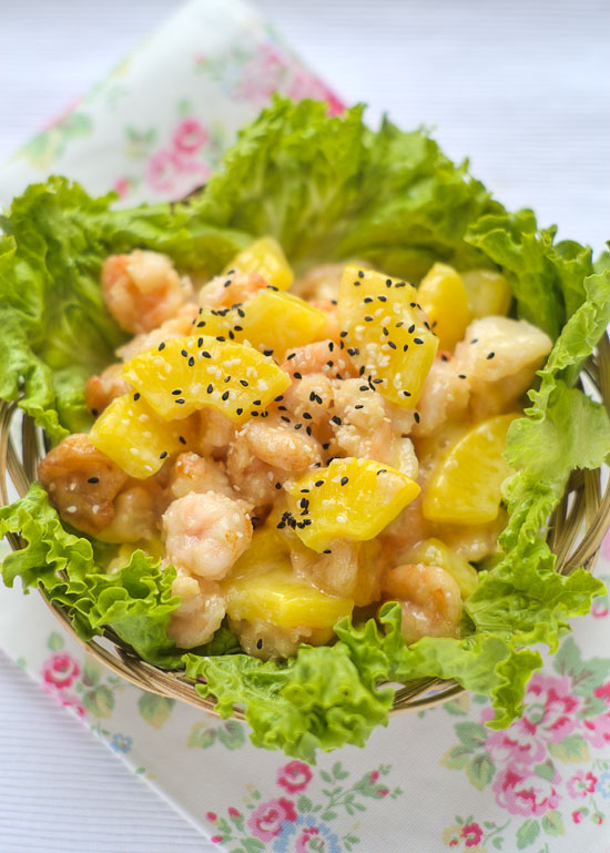 Prawn with pineapple egg wans eastern food odyssey prawn with pineapple forumfinder Images