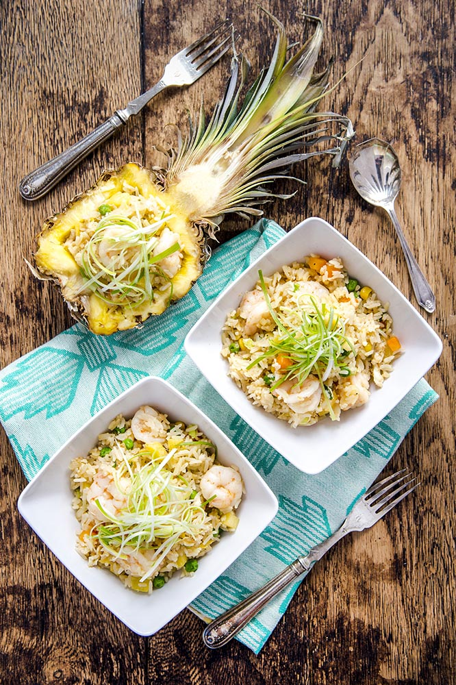 pineapple prawn fried rice
