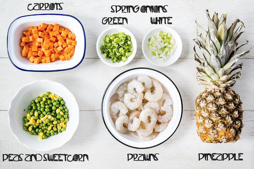 pineapple prawn fried rice ingredients