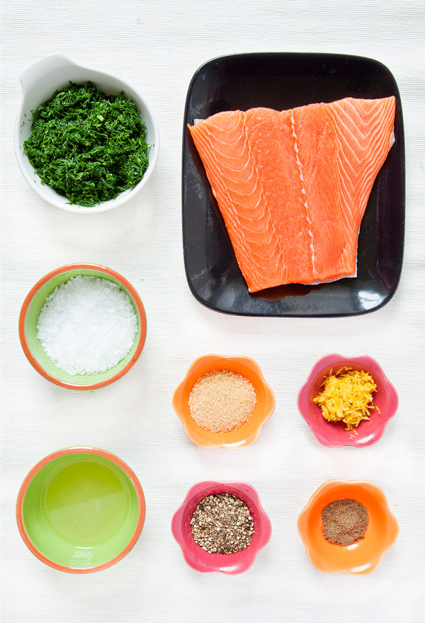 Salmon Gravlax Ingredients