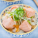 Thumbnail image for Salmon Rice Noodle Soup