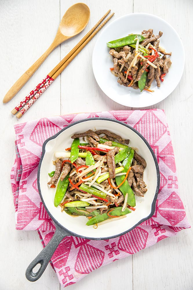 Stir Fried Beef with Mung Bean Sprouts