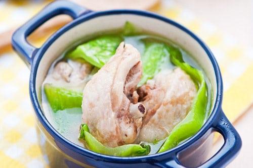 mustard green chicken soup