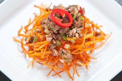 coriander chili beef mince recipe