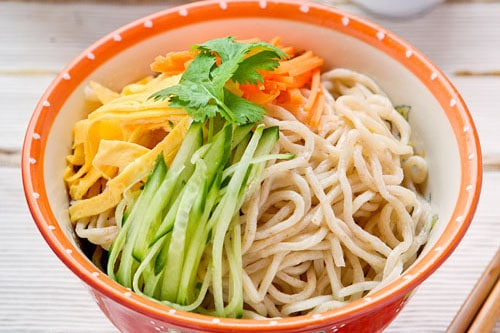taiwanese home made noodle salad