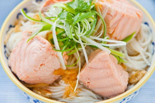 Salmon Rice Noodle Soup Recipe