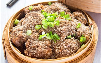 Fen Jen Ro Steamed Pork Belly in Rice Powder with Sweet Potato