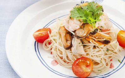 Thai Rice Noodle Seafood Salad