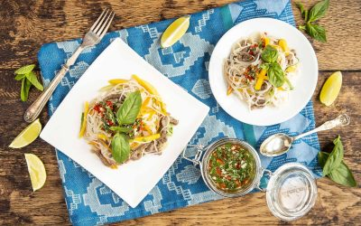 Mango and Beef Rice Noodle Salad
