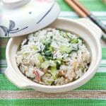 cooked-rice-with-bak-choy-and-gammon