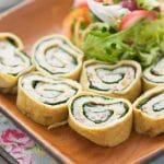 egg spinach and squid roll
