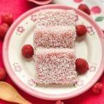Raspberry Snowflake Cake