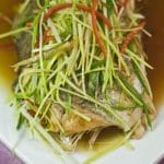 steamed lemon rainbow trout