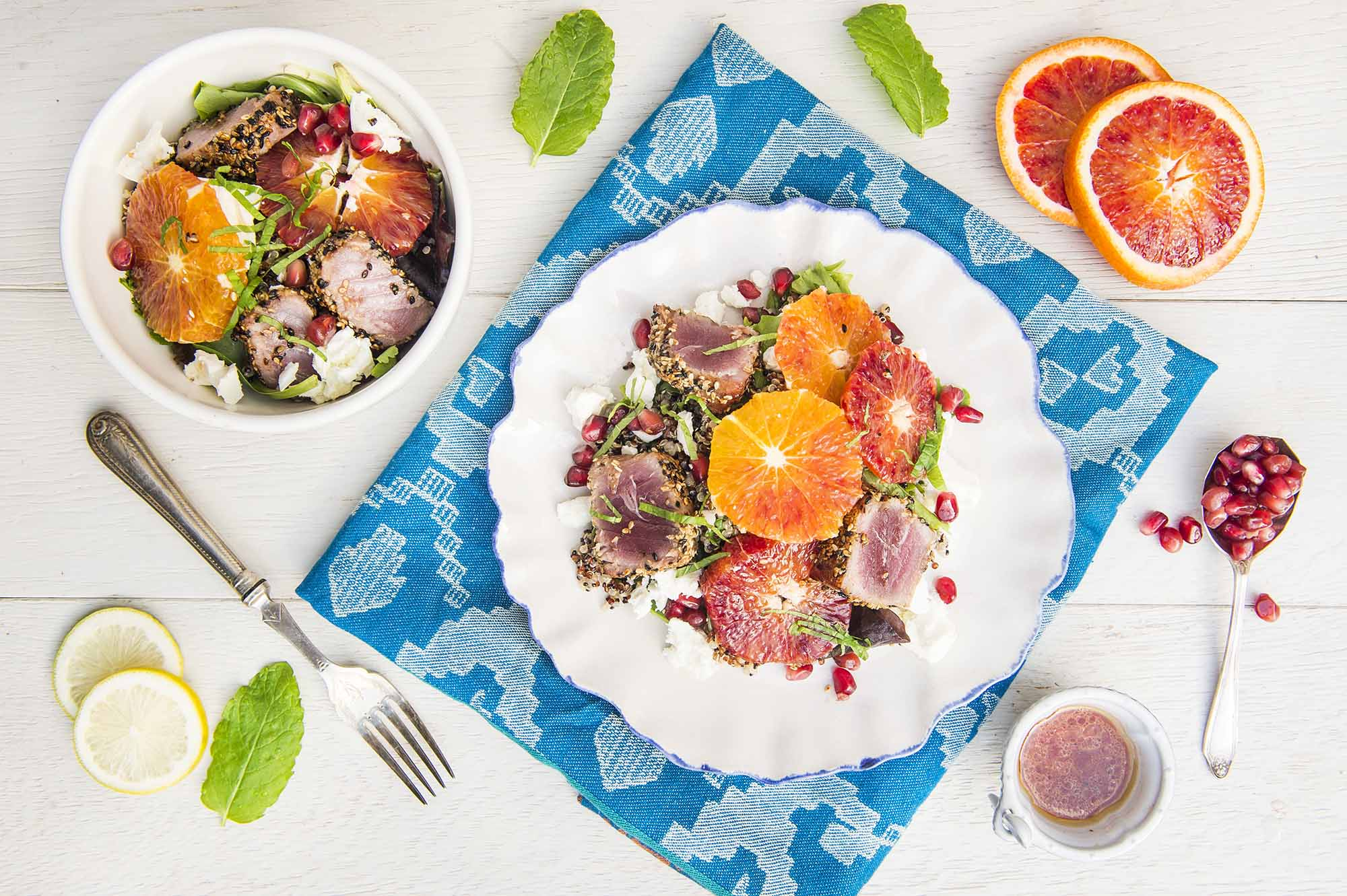 blood orange tuna quinoa salad