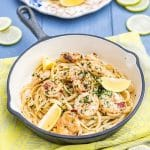 prawn and lemon butter pasta